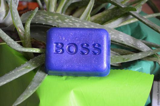 """Мыло ручной работы. Ярмарка Мастеров - ручная работа. Купить Мыло ручной работы  мужское """"Boss"""". Handmade. Синий"""