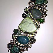 Украшения handmade. Livemaster - original item Bracelet hand-woven with natural stones.. Handmade.