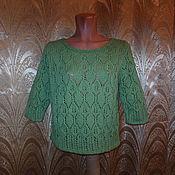 Одежда ручной работы. Ярмарка Мастеров - ручная работа Пуловер светло зеленый. Handmade.
