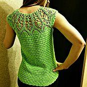 """Одежда ручной работы. Ярмарка Мастеров - ручная работа Кофта  """"Зеленое лето"""" крючком. Handmade."""