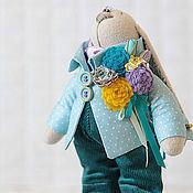 Куклы и игрушки ручной работы. Ярмарка Мастеров - ручная работа Заяц в горошек. Handmade.