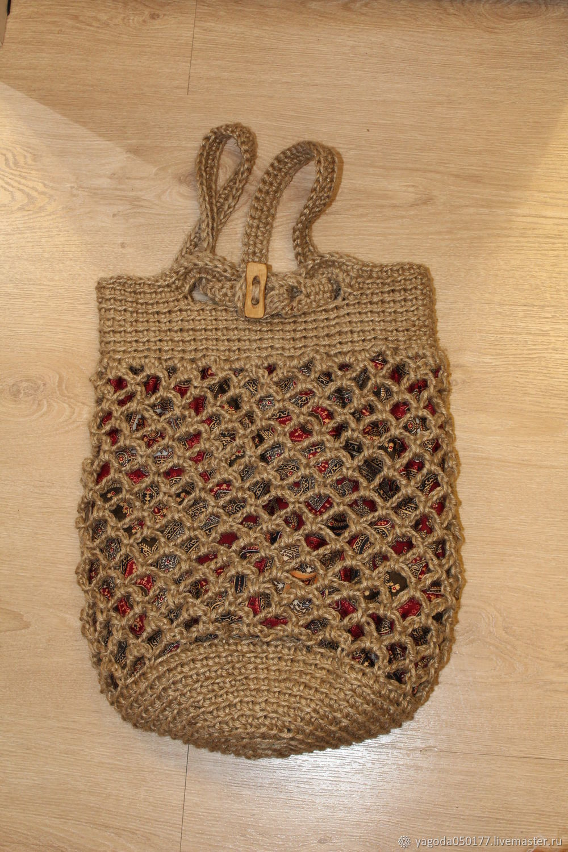Transformer bag-backpack bag shopper bag from jute, Classic Bag, Kaluga,  Фото №1