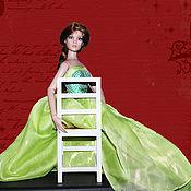"""Куклы и игрушки ручной работы. Ярмарка Мастеров - ручная работа Корсет и юбка для куклы тоннер """"Зеленая фея"""". Handmade."""