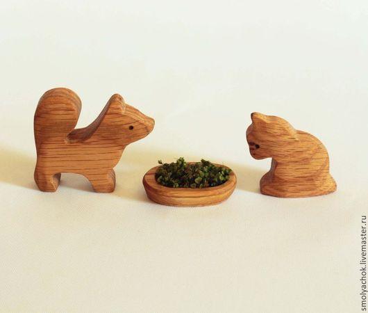 Развивающие игрушки ручной работы. Ярмарка Мастеров - ручная работа. Купить Кошка и собака. Деревянные развивающие игрушки.. Handmade.