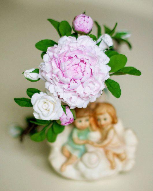 Диадемы, обручи ручной работы. Ярмарка Мастеров - ручная работа. Купить Венок с пионом и розами. Handmade. Венок, цветы, украшение
