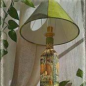 """Для дома и интерьера ручной работы. Ярмарка Мастеров - ручная работа Настольный светильник  из бутылки """"Лимоны"""". Handmade."""