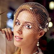 Свадебный салон handmade. Livemaster - original item The wedding veil to the flies. Handmade.