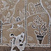 Картины и панно ручной работы. Ярмарка Мастеров - ручная работа Собака хочет гулять!. Handmade.