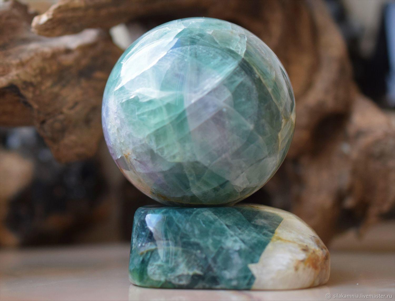 Ball of fluorite 69mm, Ball, Odessa,  Фото №1