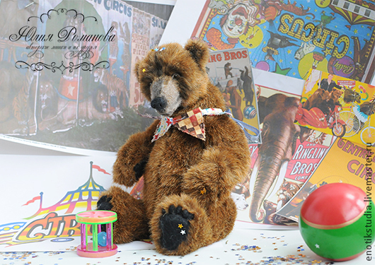 Мишки Тедди ручной работы. Ярмарка Мастеров - ручная работа. Купить цирковой медведь Бруно. Handmade. Коричневый, реалистичный медведь
