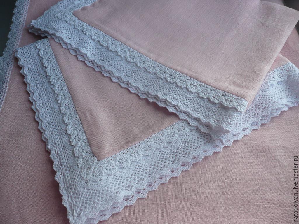 Pillowcases linen' DELICATE ROSE ' set of two, Pillowcases, Ivanovo,  Фото №1
