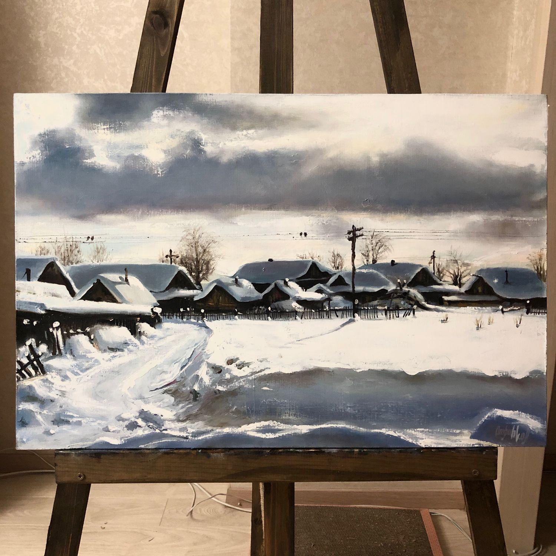 Картина Зимний день , из серии работ «детство», Картины, Новосибирск,  Фото №1