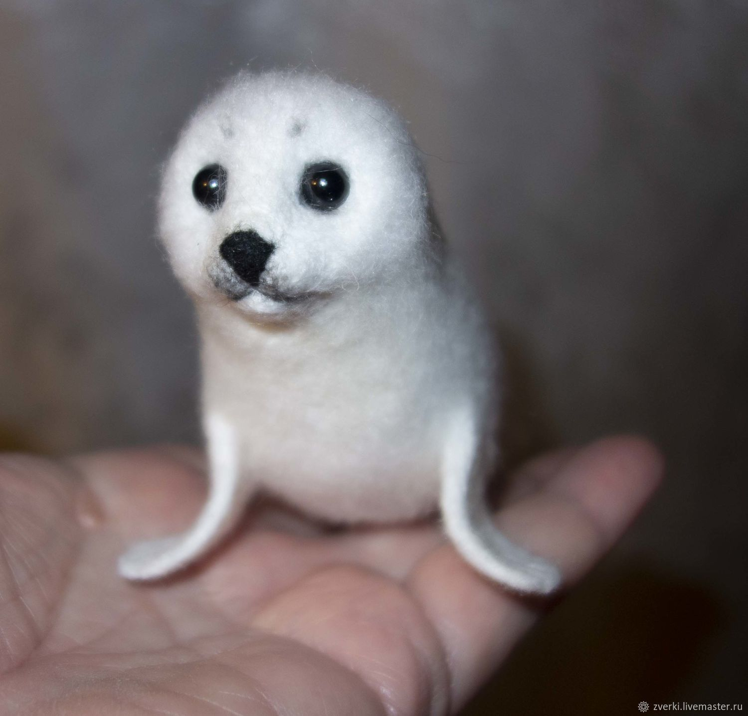 Belek is a baby seal, baby Seal, Yasha, Felted Toy, Moscow,  Фото №1