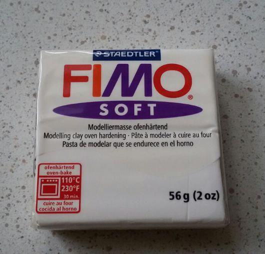 Для украшений ручной работы. Ярмарка Мастеров - ручная работа. Купить Белый (0) - Fimo Soft. Handmade. Цветы, бутон
