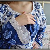 Одежда handmade. Livemaster - original item Long Princess dress with embroidery, boho style. Handmade.