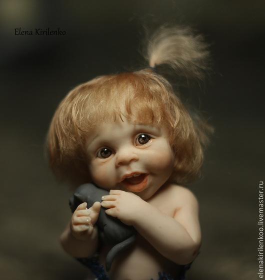 Коллекционные куклы ручной работы. Ярмарка Мастеров - ручная работа. Купить Кузьма. Handmade. Синий