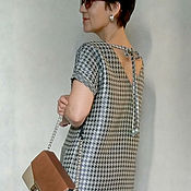 Одежда ручной работы. Ярмарка Мастеров - ручная работа Платье прямого силуэта БАРБАРА. Handmade.