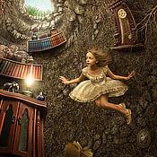 """Картины и панно ручной работы. Ярмарка Мастеров - ручная работа Фотосказка """"Алиса в стране чудес. Падение в нору"""". Handmade."""