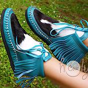 """Обувь ручной работы. Ярмарка Мастеров - ручная работа Оригинальные кожаные ботиночки """"Crazy Mocs"""". Handmade."""