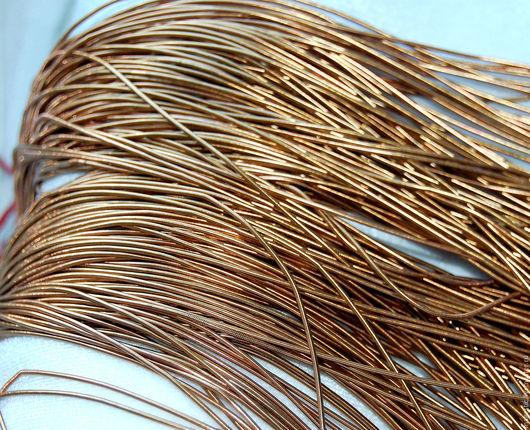 коричневое/шоколадное золото  Канитель 1 мм. Ярмарка мастеров - ручная работа. Вышивка ручная. Купить канитель.  HANDMADE  EmbroideryMaterial