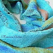 Аксессуары handmade. Livemaster - original item felted scarf Turquoise. Handmade.