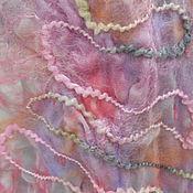 Аксессуары handmade. Livemaster - original item scarf tippet felted the Kingdom of dawn. Handmade.
