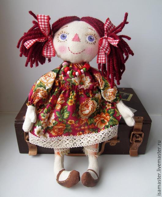 Человечки ручной работы. Ярмарка Мастеров - ручная работа. Купить Марья. Handmade. Бордовый, кукла, кукла текстильная, чердачная кукла