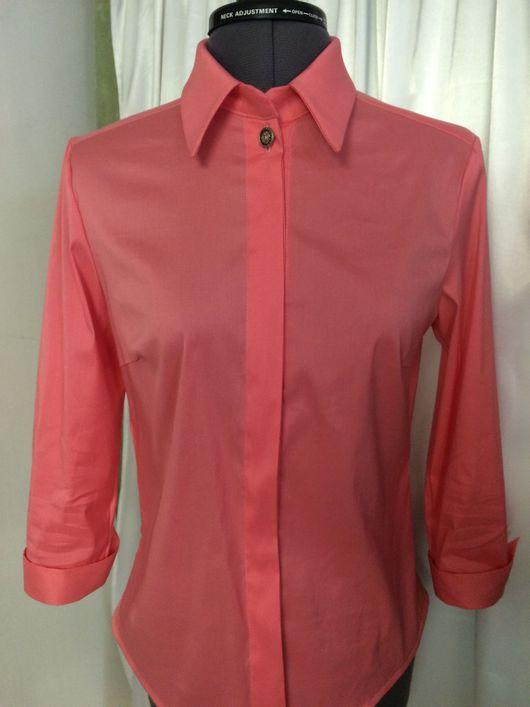"""Блузки ручной работы. Ярмарка Мастеров - ручная работа. Купить Блузка - рубашка """"Коралл"""". Handmade. Блузка, блузка на заказ, рубашка"""