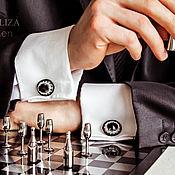 Украшения handmade. Livemaster - original item Cufflinks Oscar Black night. Cufflinks for men, men jewelry. Handmade.