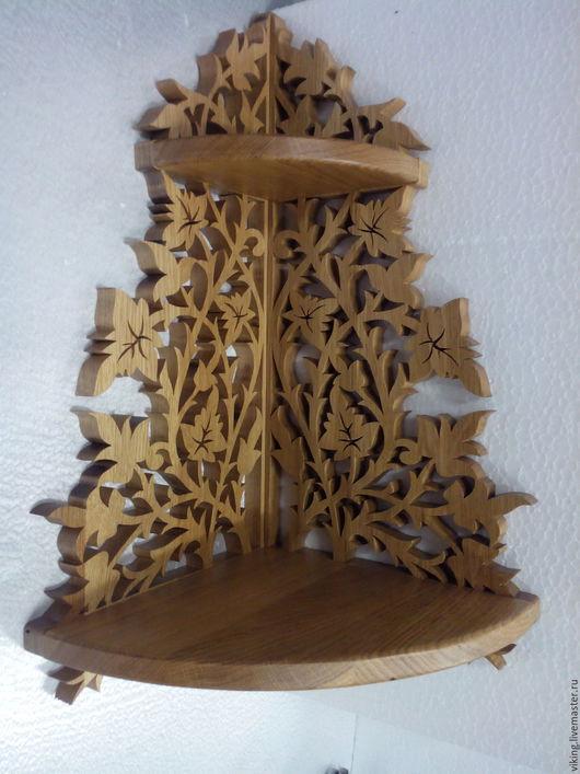 Мебель ручной работы. Ярмарка Мастеров - ручная работа. Купить Полка угловая 2 яруса R. Handmade. Разноцветный, морилка