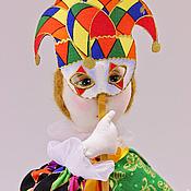 Куклы и игрушки ручной работы. Ярмарка Мастеров - ручная работа кукла Арлекин. Handmade.