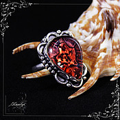 Украшения handmade. Livemaster - original item ring with decorative glass