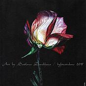 """Картины и панно ручной работы. Ярмарка Мастеров - ручная работа """"Роза на черном"""". Handmade."""