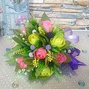 """Цветы и флористика ручной работы. Ярмарка Мастеров - ручная работа сладкий кулек """"Дыхание весны"""". Handmade."""
