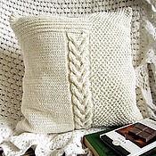 Для дома и интерьера ручной работы. Ярмарка Мастеров - ручная работа Декоративная наволочка/чехол на диванную подушку. Хлопок + вискоза. Handmade.