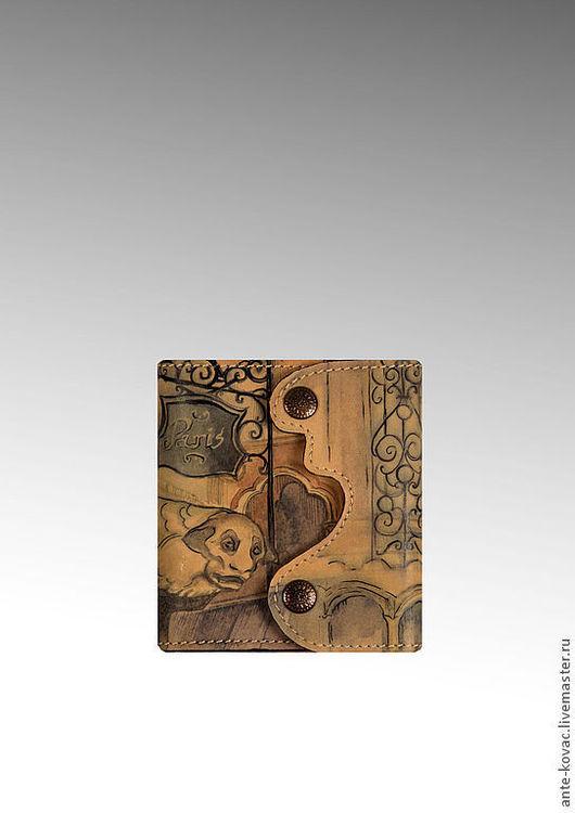 """Кошельки и визитницы ручной работы. Ярмарка Мастеров - ручная работа. Купить Портмоне - пополамер """"France"""". Handmade. Портмоне, кошелек из кожи"""