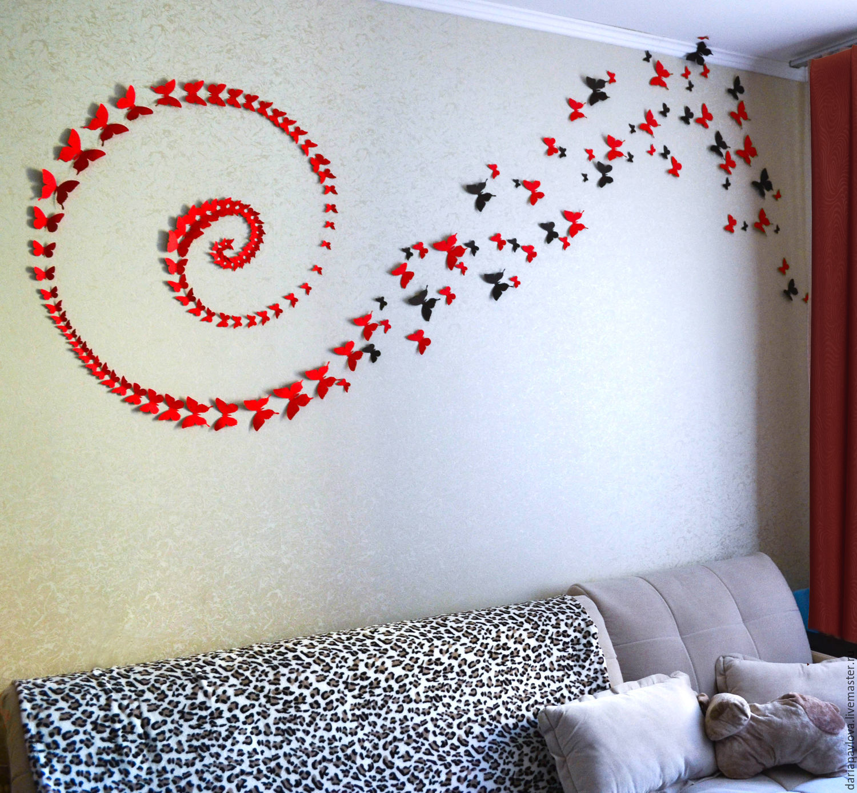 Декор стен бабочками своими руками: трафареты, материалы 15