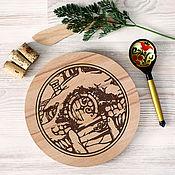 Для дома и интерьера ручной работы. Ярмарка Мастеров - ручная работа Кухонная доска Домик Хоббита. Handmade.