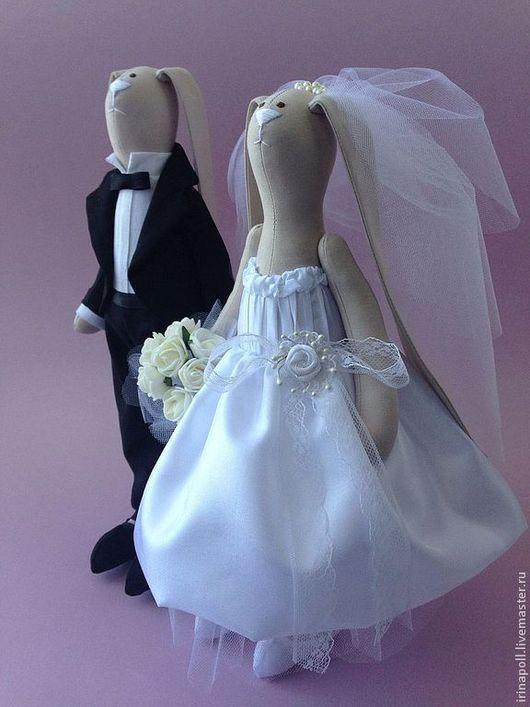 Куклы Тильды ручной работы. Ярмарка Мастеров - ручная работа. Купить Свадебная парочка. Handmade. Чёрно-белый, свадебные подарки