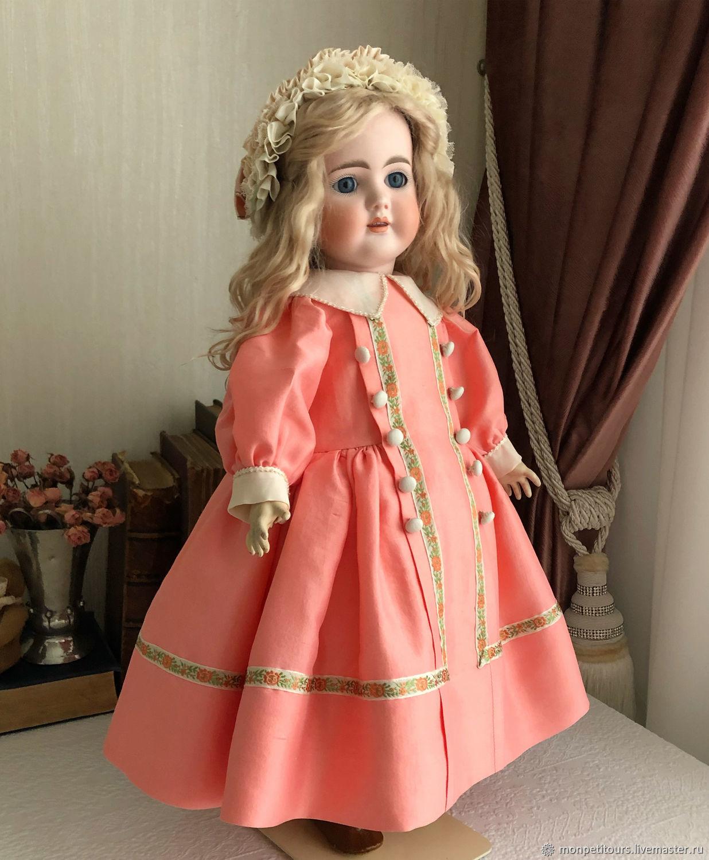 Платье и шляпка для антикварной куклы, Одежда для кукол, Москва,  Фото №1