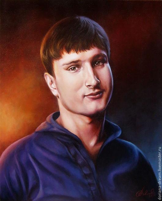Люди, ручной работы. Ярмарка Мастеров - ручная работа. Купить Портрет акриловыми красками на холсте. Handmade. Портрет, разноцветный, девушка