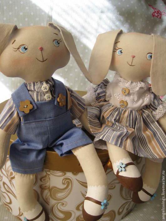 Влюбленные зайчики девочка и мальчик