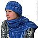 берет и шарф декорированы с помощью этого шаблона
