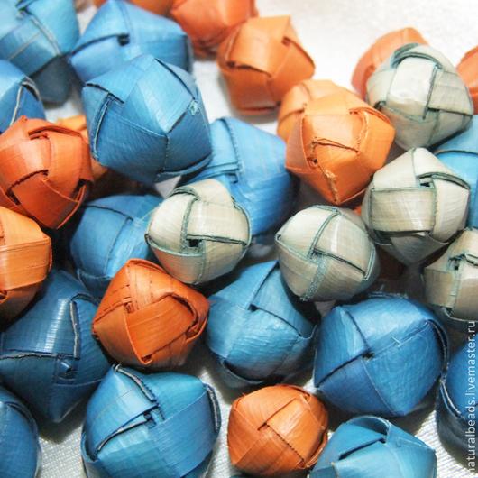 Для украшений ручной работы. Ярмарка Мастеров - ручная работа. Купить ПАЛЬМОВЫЕ КУБИКИ бусины плетеные. Handmade. Бусины, для серег