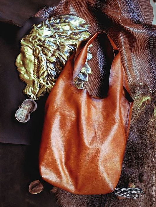 Женские сумки ручной работы. Ярмарка Мастеров - ручная работа. Купить Сумка-мешок женская кожаная сумка тоте шоппер из натуральной кожи. Handmade.