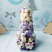 Елки ручной работы. Ярмарка Мастеров - ручная работа Ёлочка Мороженка, с мишкой,на новый год, для девочки, подарок, на стол. Handmade.