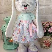 Куклы и игрушки ручной работы. Ярмарка Мастеров - ручная работа Зайка в платье. Handmade.