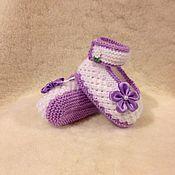 Работы для детей, ручной работы. Ярмарка Мастеров - ручная работа пинетки вязаные спицами. Handmade.