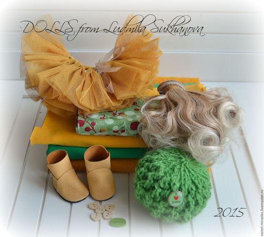 Куклы и игрушки ручной работы. Ярмарка Мастеров - ручная работа. Купить Набор для самостоятельного пошива куколки 27. Handmade. Зеленый
