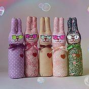 Куклы и игрушки ручной работы. Ярмарка Мастеров - ручная работа Весёлые зайчики. Handmade.